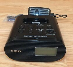 Genuine Sony Dream Machine (ICF-C05iP) 8V FM Clock Radio with iPod/iPhone Dock