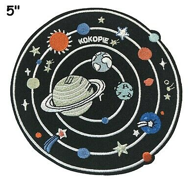 SOLAR SYSTEM NASA SPACE STARS Embroidered Patch Iron-On Sew-On Planets Applique