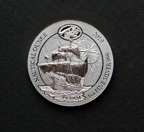 2019 1 oz Rwandan Silver Victoria Nautical Ounce Coin (BU), Airtite Capsule