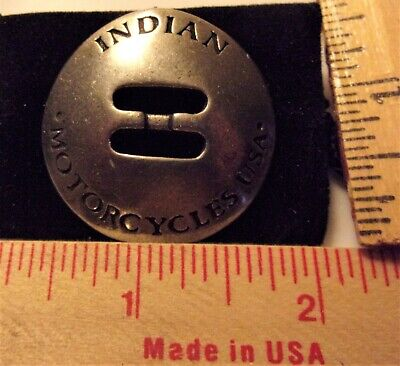 vintage Indian concho old biker collectible motorcycle accessory made USA