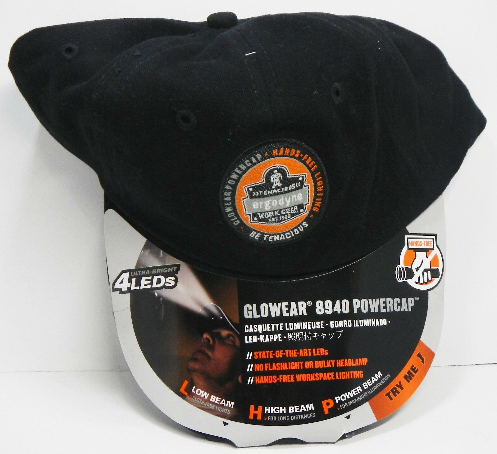 Tenacious Work Gear Ergodyne Glowear 8940 Power Cap w/ 4 Ult