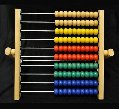 IKEA MULA ABACUS - Math Color Beads - Wooden Educational Toy