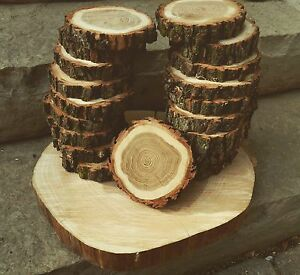 Wood rounds - wood centrepieces - wood coasters