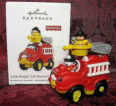 HALLMARK 2011 FISHER-PRICE ORNAMENT~LITTLE PEOPLE LIL' MOVERS FIRE TRUCK