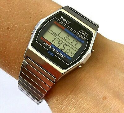 Rare Vintage Timex Alarm Chronograph Water Resistant Digital Men's Watch Runs