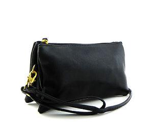 Designer Inspired 5Compartment Wristlet Wallet Crossbody Purse Messenger Bag