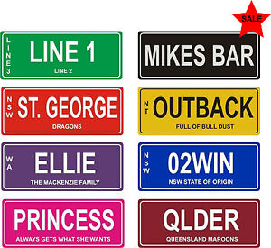 CUSTOM PERSONALISED SIGN OR CAR NUMBER LICENCE PLATE  - NOVELTY BIRTHDAY GIFT