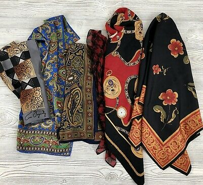 Vintage Scarf Styles -1920s to 1960s Vintage Silk Scarf Lot of 6 Echo Fogerty Other /b $30.00 AT vintagedancer.com