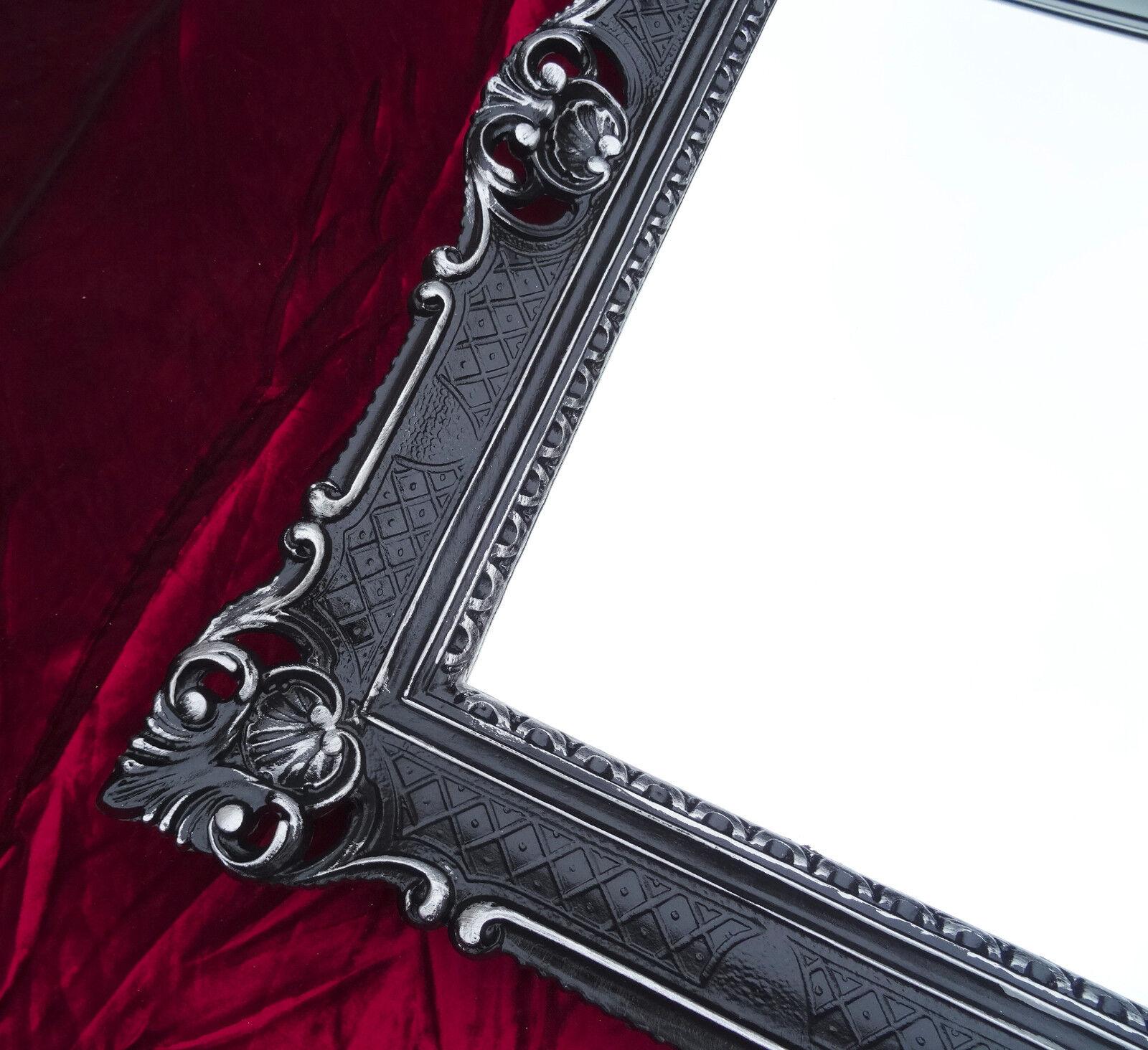 xxl wandspiegel spiegel schwarz silber antik barock rokoko. Black Bedroom Furniture Sets. Home Design Ideas