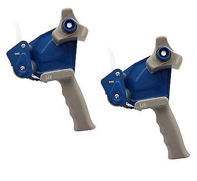 2pc - 2 Inch Tape Gun Dispenser Packing Packaging Cutter - Red Blue Color