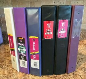 Binders, 11 in all, 1.5 – 3 inches