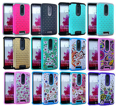 Rugged Hybrid Silicone Cover Case for Motorola Droid Turbo 2 - Rhinestone