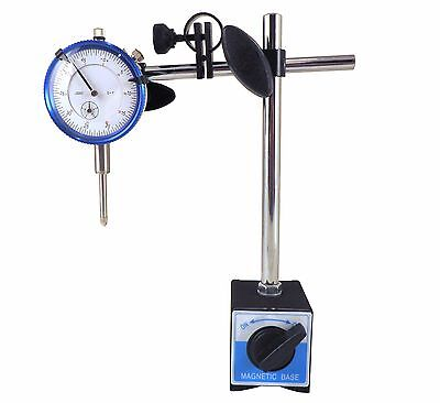 "Magnetic Base w/ Dial Indicator 0.0005"" Fine Adjustment 176#  80kg Magnet"