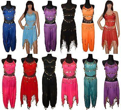 BAUCHTANZ KOSTÜM BELLY DANCE KOMPLETT SAMBA TANZ KARNEVAL TRIBAL (Orientalischer Tanz Kostüm)
