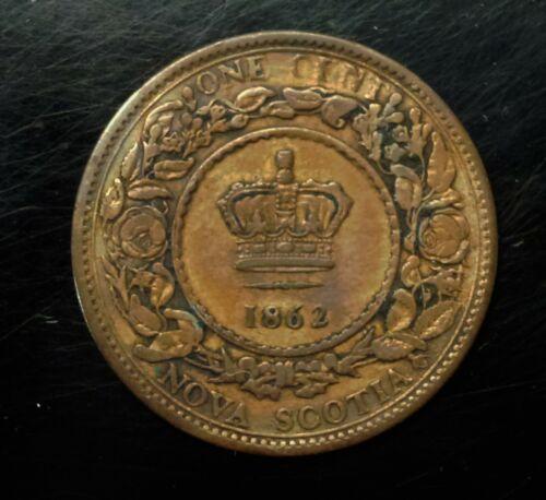 1862 Nova Scotia Canada Victoria Large One Cent