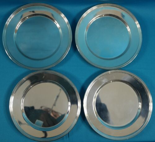 """F B Rogers Silver Plated Bread Plate 6"""" Set of 4"""
