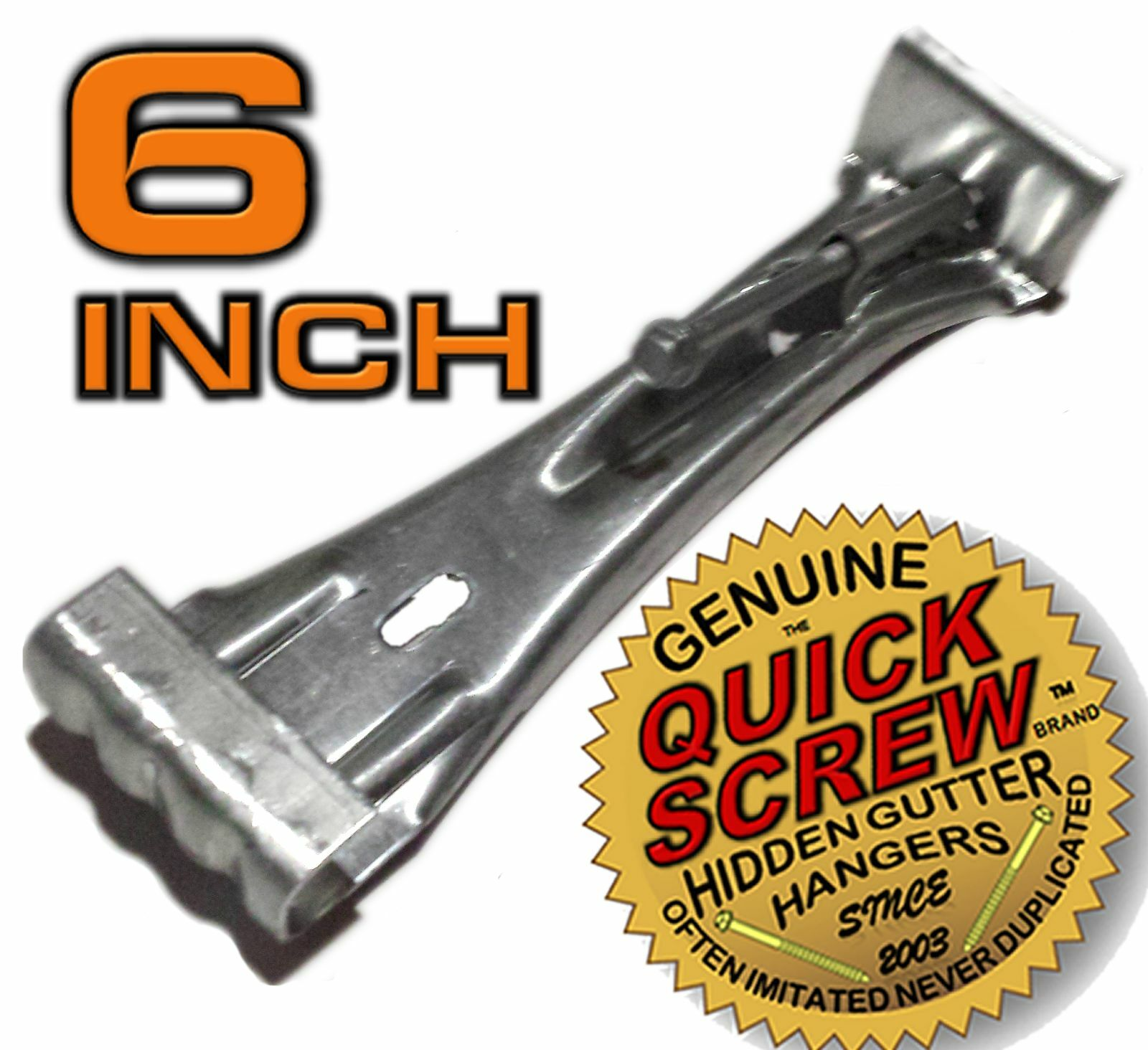 "100 6"" Inch Quick Screw Hidden Rain Gutter Hangers Brackets Hooks Clip Style"
