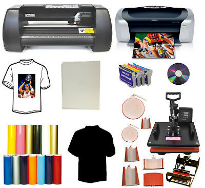 14 500g Vinyl Cutter Plotter8in1 Heat Pressprintersublimation Tshirt Startup