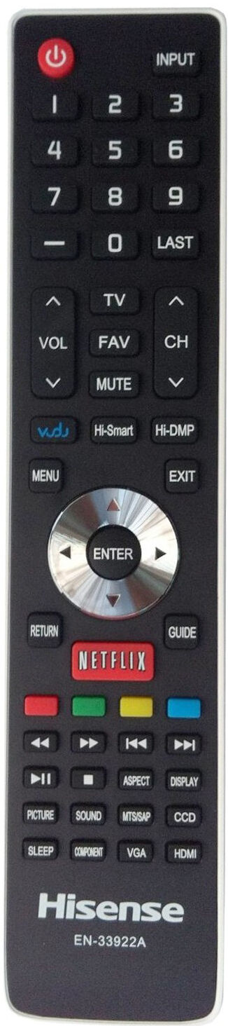 NEW Hisense Smart TV Remote EN-33922A for 32K20DW 40K366WN 5