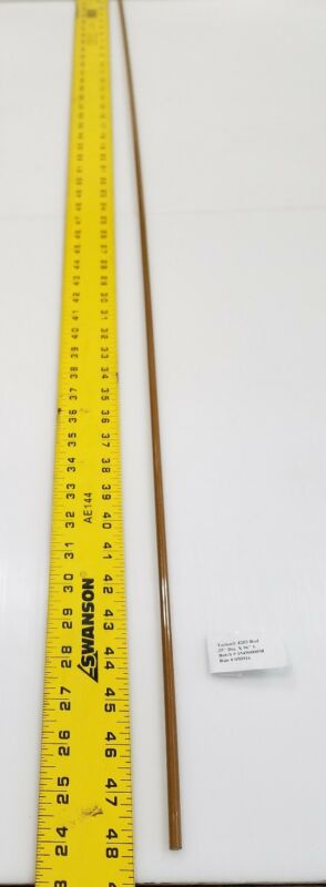 "Torlon #4203 Natural Rod .25""  Diameter 48"" length"
