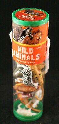 Wild Animals - 12 Assorted Figurines - Collector Set in Tube - Best Brands Assorted Wild Animals