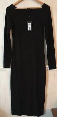 Selected Femme Black Mabel Dress Size M Rrp 60.00