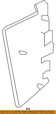 Ram CHRYSLER OEM Radiator Core Support-Side Seal Filler Panel Left 52014743AA