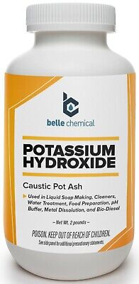 Potassium Hydroxide 2 Pound Jar Caustic Potash Food Grade