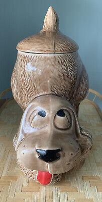 Vintage McCoy Brown Hound Dog Cookie Jar #0272 Dog Treat Jar Collector