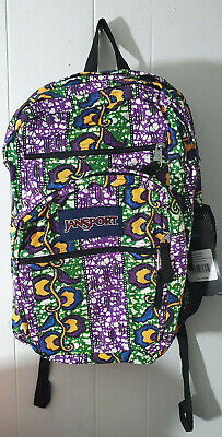 Jansport Big Student BACKPACK Style JS00T15X0ET ORANGE GOLD TO GO WAX  BLOSSOM