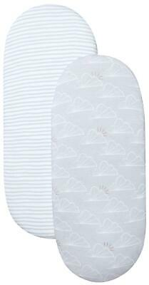 Shnuggle MOSES BASKET FITTED SHEETS 2 PACK Baby Nursery Bedding BN