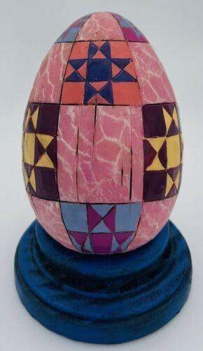 2004 Jim Shore Pink Egg with Blue Base #4001859 NIB LOT#6-27
