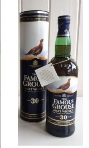Whisky Scotch Malt Famous Grouse 30 years old Very Rare Collection Collectibles