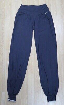 NIKE DRI FIT YOGA HAREM CUFF LOOSE PURPLE PANTS LEGGINGS BOTTOMS XS X SMALL 6 8