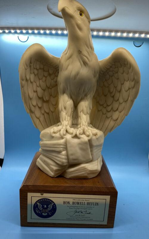 Senator Howell Heflin Trophy With Eagle 1986 Stunning!