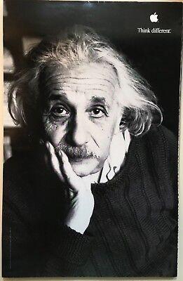 New 1998 Original Apple Think Different Poster Albert Einstein Size 11 x 17