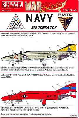 Kits World Decals 1/48 MCDONNELL DOUGLAS F-4 PHANTOM II Part 2 for sale  USA