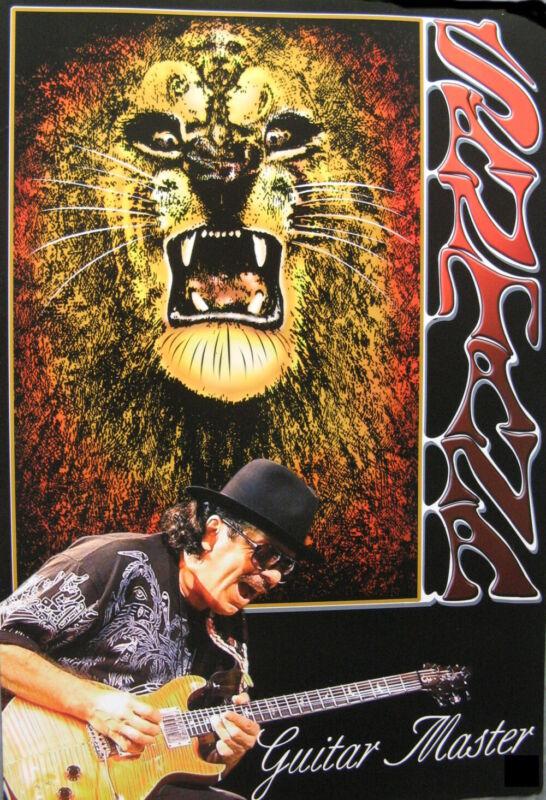 Carlos Santana Guitar Master POSTER 14.5 x 21 hi-qual (sent FROM USA in PVC pipe