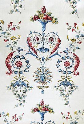 VTG Schumacher Chintz Fabric - French Lyndhurst - Red Blue MINTY 2yds
