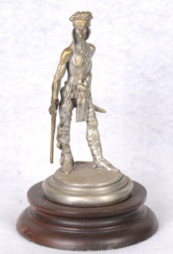 "1981 POLLAND ""Hostile Apache"" CHILMARK Pewter Figurine LTD ED 575/2,500  4""H"