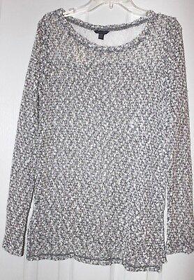 AEROPOSTALE womens teen METALLIC & LACE ACCENT sweater SHIRT TOP SZ X-SMALL -NWT