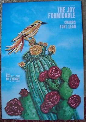 THE JOY FORMIDABLE Fillmore POSTER Original Bill Graham F1207 GUARDS Fort Lean