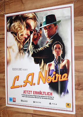 L.A. Noire Rare Promo Poster 76x59.5cm Nintendo Switch PlayStation 4 Xbox One