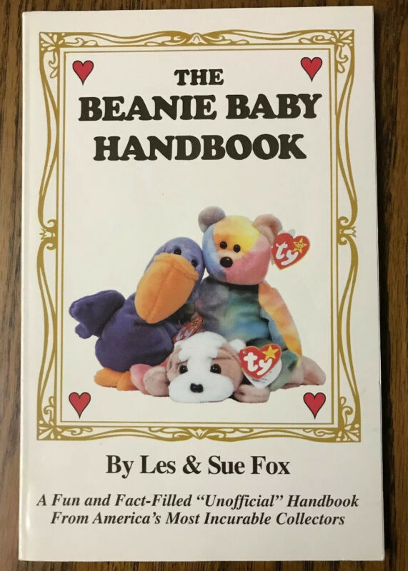 1997 The Beanie Baby Handbook Les & Sue Fox Paperback Illustrated Book