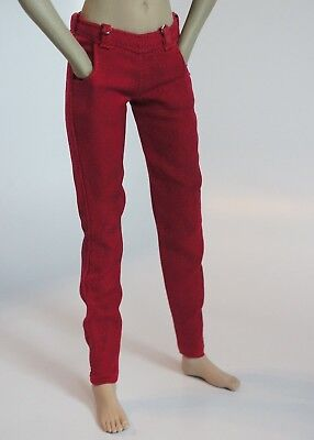Phicen//TBLeague Painkiller Jane Hot Red Leatherlike Coat for 1//6 12in scale Toys
