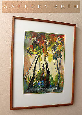 Beautiful  Mid Century Modern Abstract Landscape Oil Painting  Emily Nash Smith