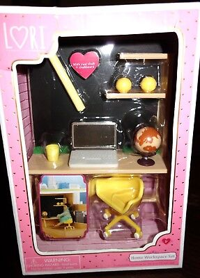 Our Generation 6  Lori Doll Home Workspace Furniture For Dollhouse Set Nib