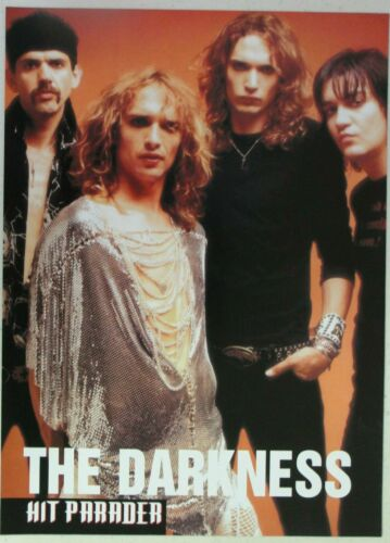 THE DARKNESS Full Page Pinup magazine clipping orange background