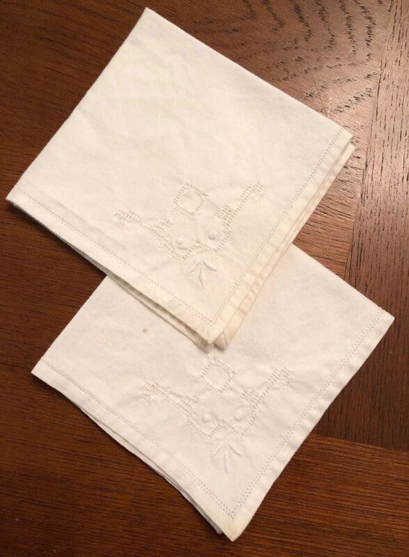 Antique Cotton Handkerchiefs