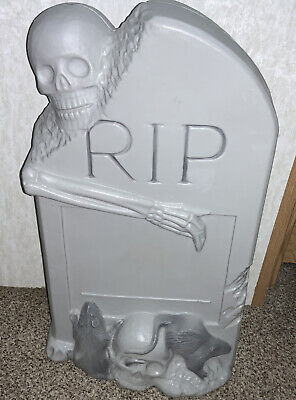 Vintage Halloween RIP Tombstone Blow Mold No Cord. Good Condition.27X16 Inch
